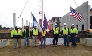 Gilbane Building Company Celebrates Topping Out Ceremony at Franklin