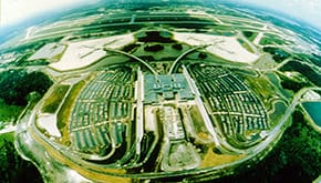 Aerial view of Orlando International Airport
