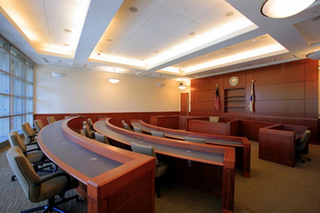 With 27 courtrooms, the facility houses all five of the court departments: Superior, District, Juvenile, Housing, Probate/Family Court, and a Grand Jury room.