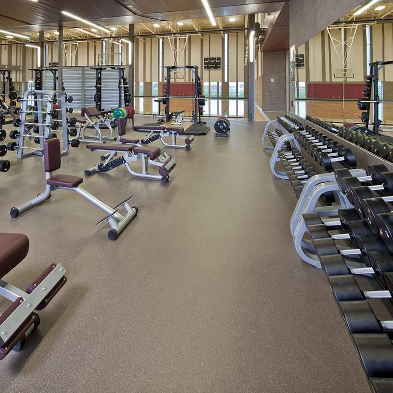 Interior Weight Room - ASU