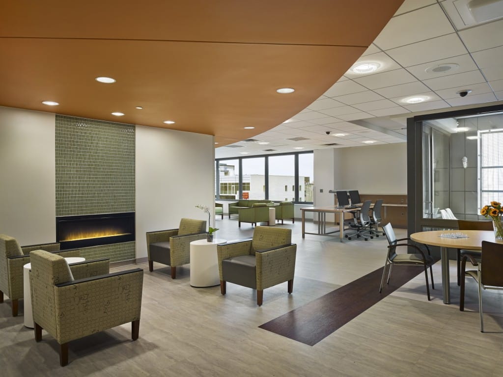 A home away from home vibe in the newly renovated long term acute care hospital.