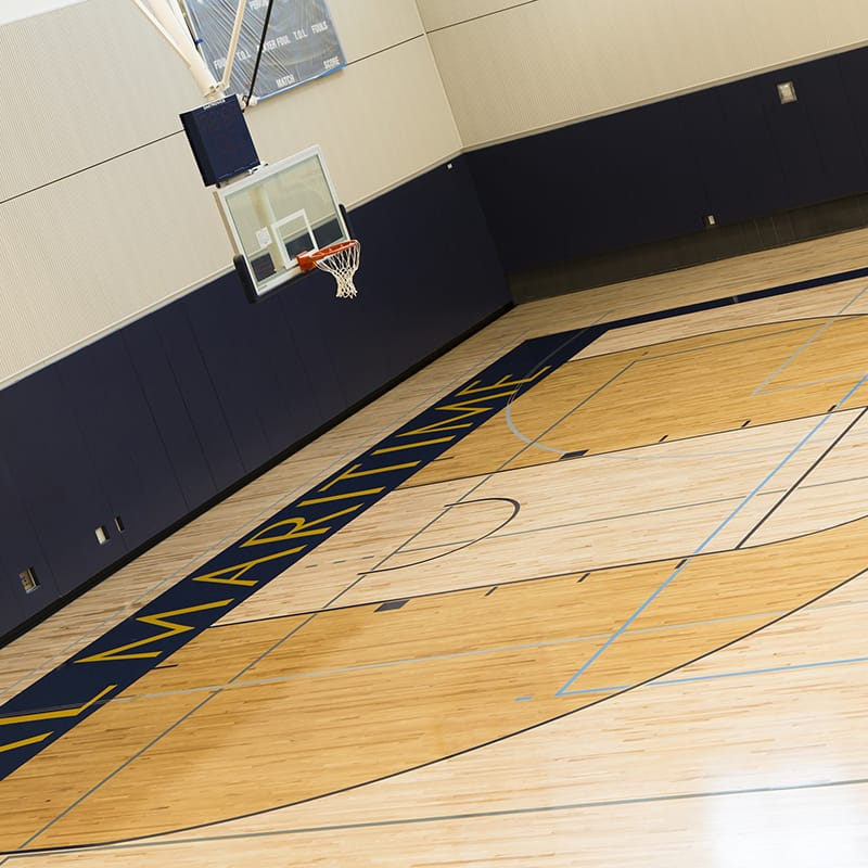 Cal Maritime Academy Physical Education Replacement Building Basketball court