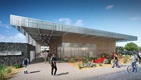 New, 13,700 SF Visual Arts Building.