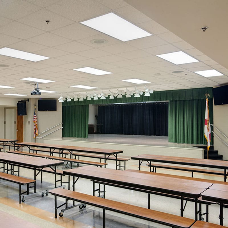 Renovated cafeteria