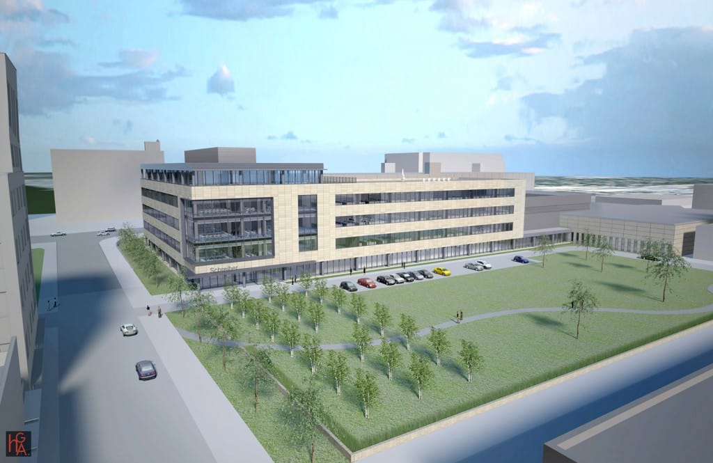 Schrieber Foods' Global Technology Center will serve as their corporate headquarters in downtown Greenbay.