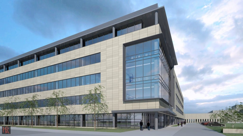 The Global Technology Center is located on a 7.25-acre site adjacent to existing structures and will allow personnel and clients to more efficiently collaborate, research and innovate.