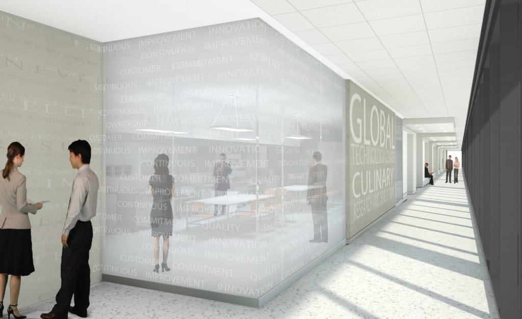The new Global Technology Center will feature state-of-the-art food research laboratories, office space and more.