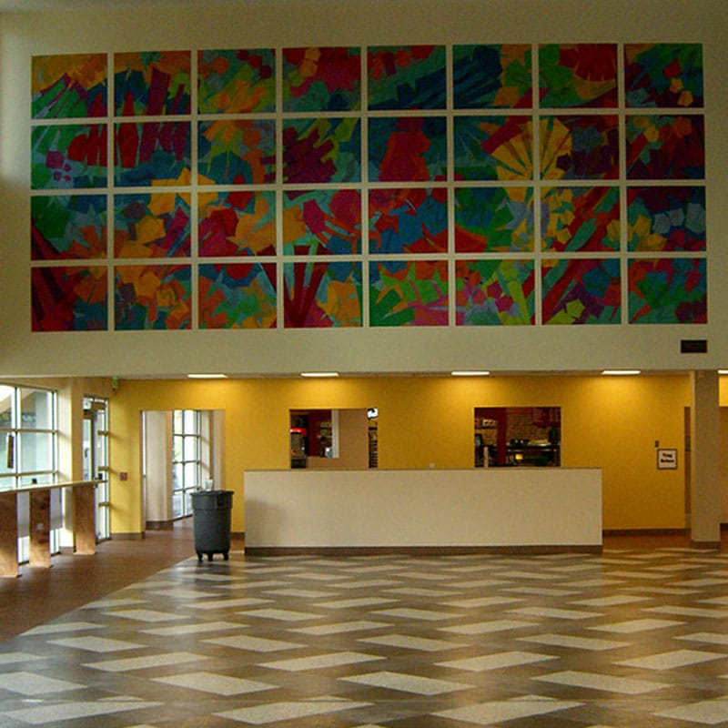 Interior Lobby to admissions and student services building