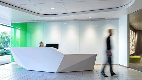 Interior lobby Quest Diagnostics Operations Center