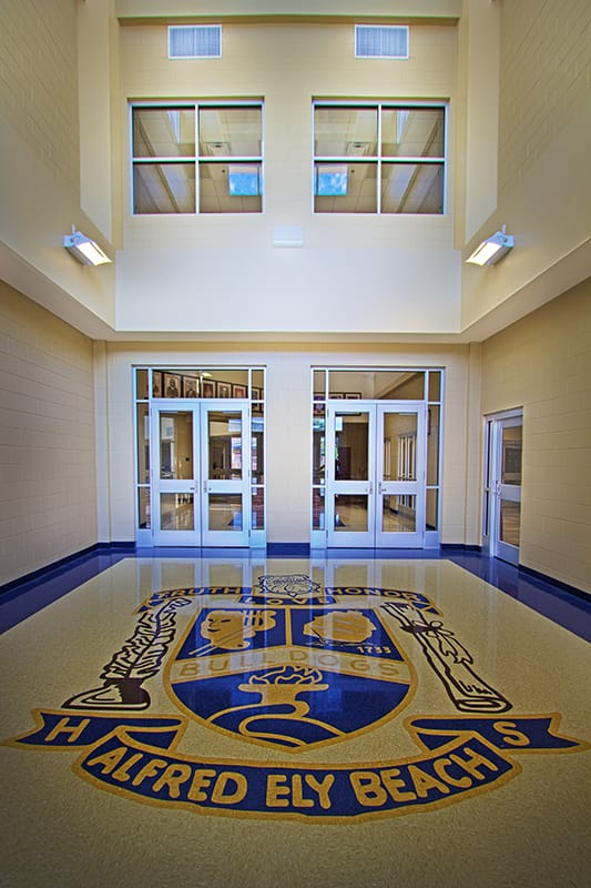 Interior View of Beach High School Main entrance Gilbane Building Company