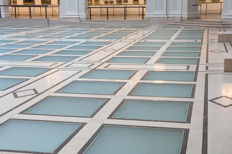 Gilbane managed construction of new glass floor.