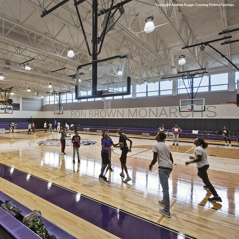 Gym at Ron Brown College Preparatory High School