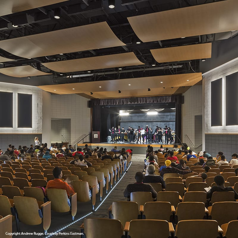 Auditorium at Ron Brown College Preparatory High School