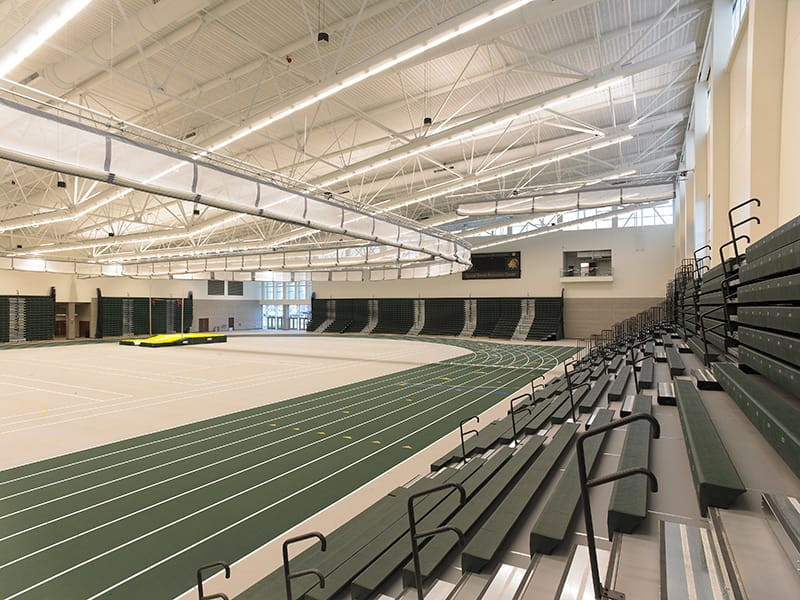 Main gymnasium with seating capacity for 5,500 people