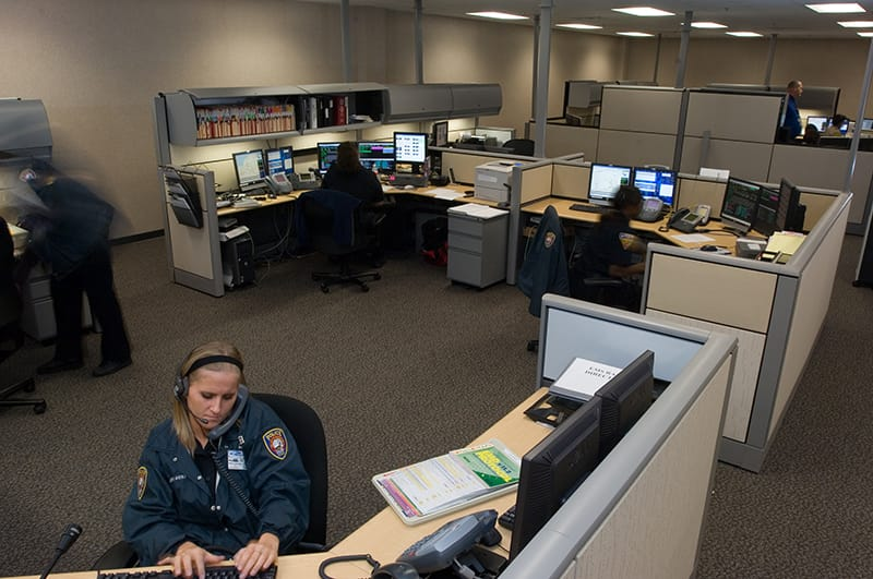 Improved support spaces offer more security for personnel.
