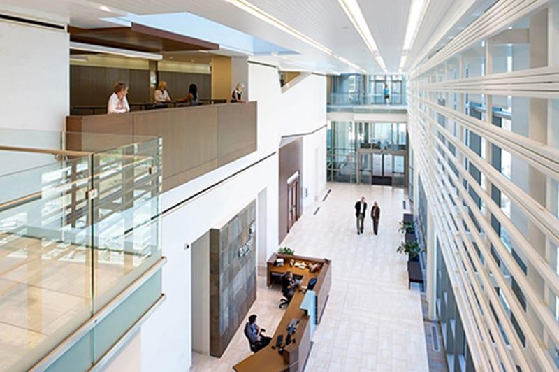 Grange Mutual Insurance Corporate Headquarters Multi-Story Atrium Lobby