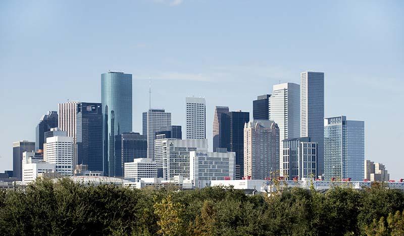 Downtown Skyline - hess tower