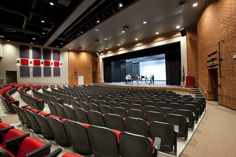 Liberty High School included a performance auditorium