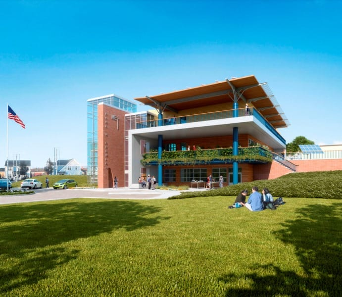 Gilbane builds first net zero energy state building in Rhode Island.