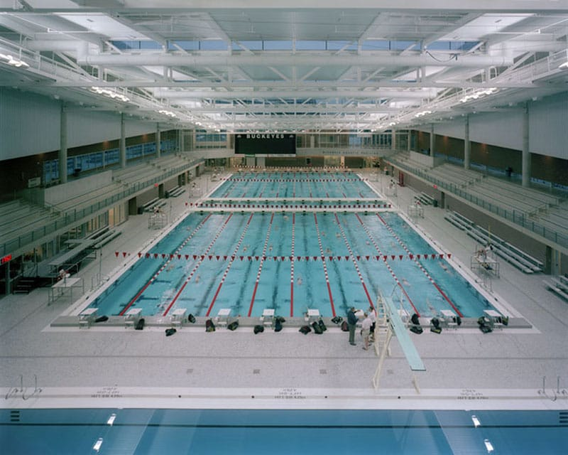 McCorkle Aquatic Pavilion includes a 50-meter pool and diving well