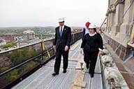 Project Manager Paula Bianchi and New York Governor Andrew Cuomo tour the project.