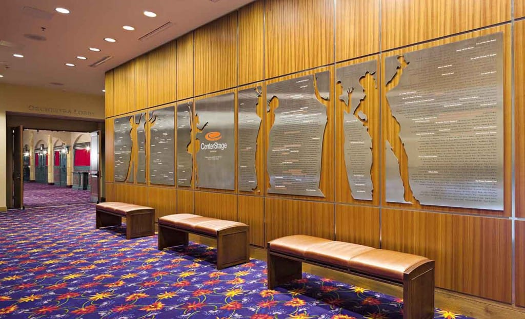 Richmond Performing Arts Committee Richmond CenterStage Interior Donor Wall