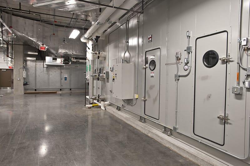 Rice University Brockman Hall for Physics - Submarine doors