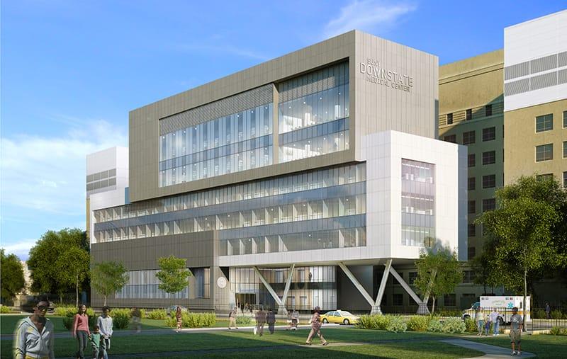 College campus construction