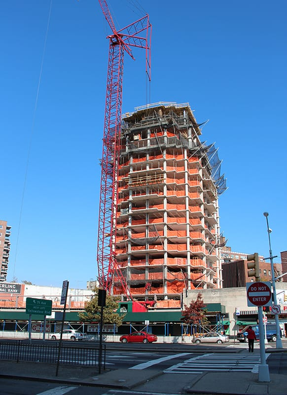 Mixed used high rise construction