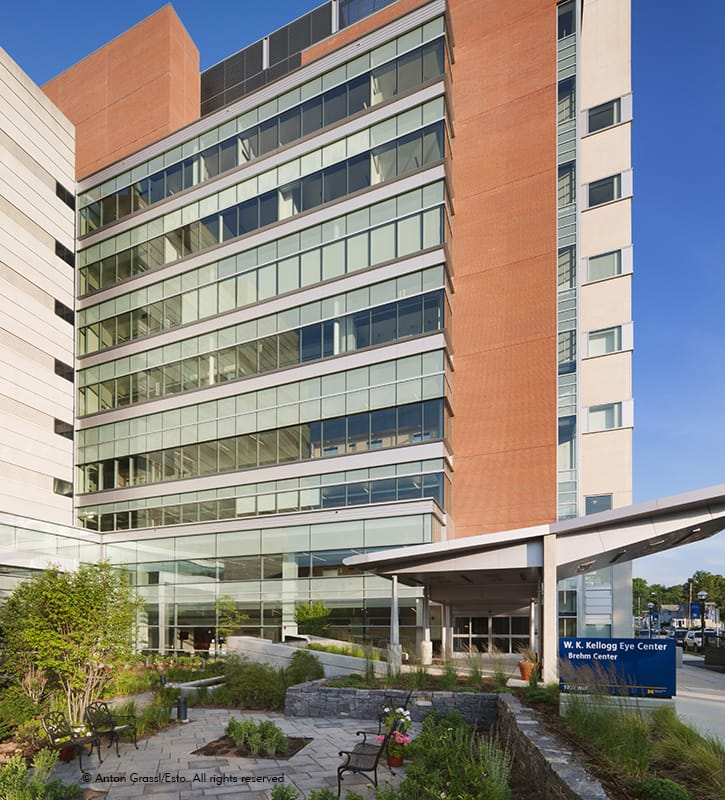 Modern design with a warm environment that welcomes researchers, staff and patients