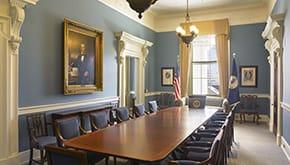 Virginia Capitol Interior Boardroom