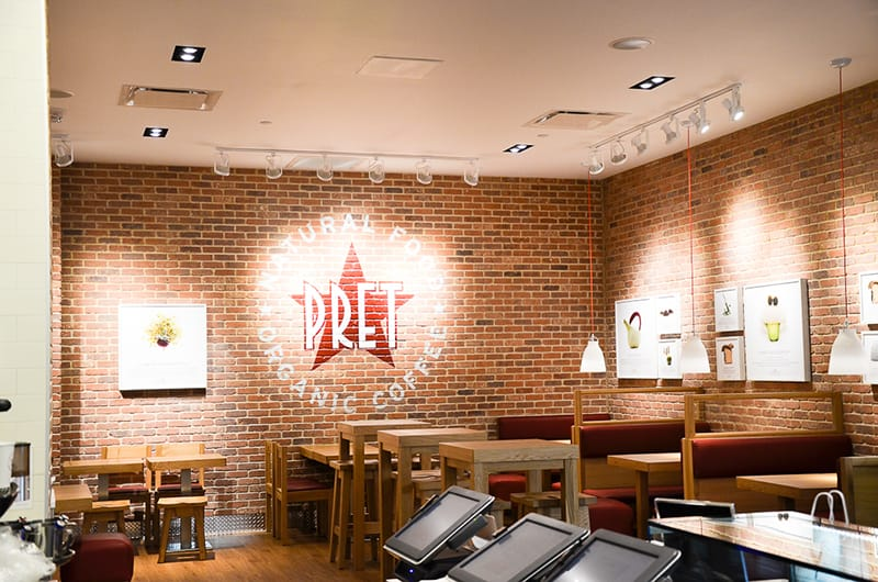 This is the 50th location for Pret A Manger.
